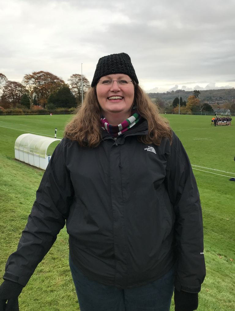 Ruth Freeman, Speech Therapist at the rugby